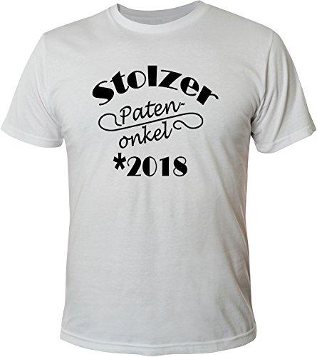 Mister Merchandise Herren Men T-Shirt Stolzer Patenonkel 2018 Tee Shirt bedruckt Weiß