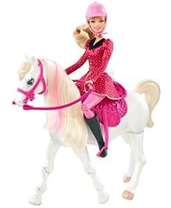 mattel barbie y6858 barbie und ihre schwestern im pferdegl ck puppe mit pferd. Black Bedroom Furniture Sets. Home Design Ideas