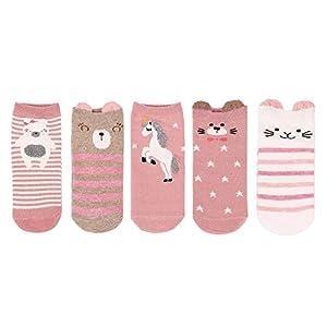 LHZY Faule Frauen-Mädchen-Socken 5 Satz, lustige nette Haustier-Hunde, die Karikatur-Bonbon-Entwurf, bequeme Baumwollmischungs-Boden-Socken Großbritannien 4-7 / EU 35-41 malen