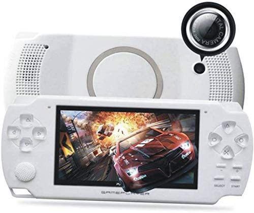 RFV1(tm)PSP Game Console with 10000 Games, Music, Alarm, Calculator, Camera, SD Card Slot- White