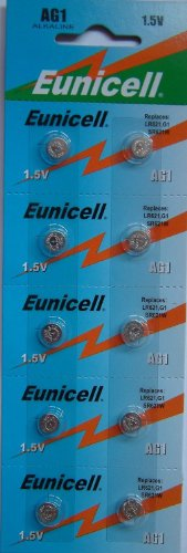 20 Eunicell AG1 Piles Plates Batterie Cellule