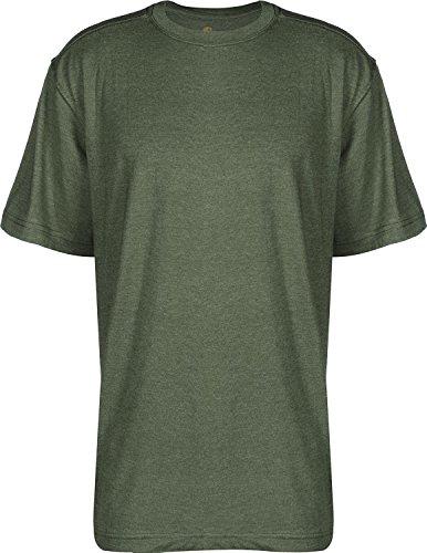 Carhartt Big & Tall Maddock kurzärmeliges T-Shirt Ohne Taschen für Herren, Moss Heather, XS (Skate-kleidung)