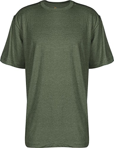 Carhartt Big & Tall Maddock kurzärmeliges T-Shirt Ohne Taschen für Herren, Moss Heather, XS - Crewneck Heather Jersey T-shirt