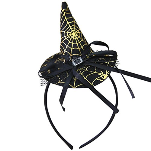 HCFKJ 2017 Mode Halloween Party Witch Cap Hat Spider Party Requisiten Accessoires (2017 Halloween Requisiten)