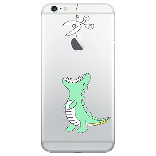 iPhone 6 6S Handyhülle Schutzhülle Hülle Silikon Cover Case Ultra Dünn Slim Backcover TPU transparent Dino