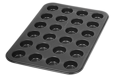 Dr. Oetker Muffinform 24-er Mini Ø 3 cm, Cupcake Form für saftige Muffins, Muffinblech mit Antihaftbeschichtung, Menge: 1 Stück -