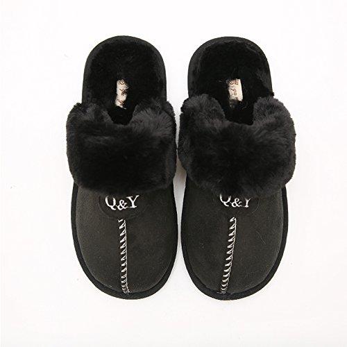 Inverno fankou giovane Felpa cotone pantofole maschio pacchetto ladies con fondo spesso della piscina non - slip caldo scarpe home inverno Weiß, männlich