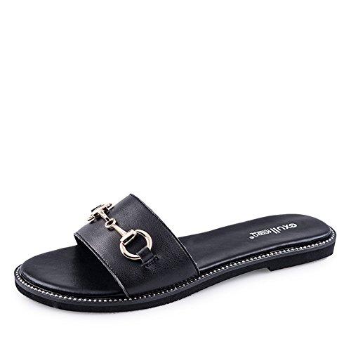 Smart casual sandali in estate/Ribattini sandali piatti A