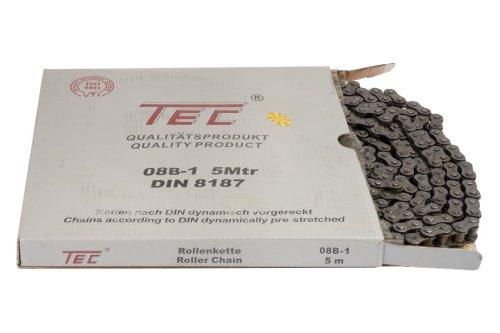 1 Bund (=5m) TEC Rollenkette 08B-1 (1/2 x 5/16'') DIN8187 [Grundpreis: 3,20 EUR/m]