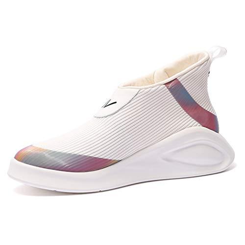 Frauen Mischte Farbe Turnschuhe Schuhe AußErhalb ReißVerschluss Stretch Stoff Keilabsatz Plattform Atmungsaktiv Casual Trainer