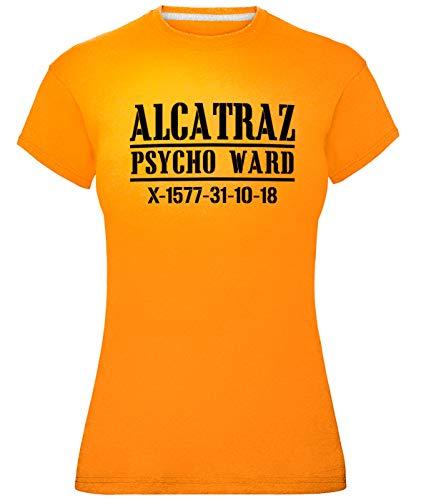 laylawson Damen Alcatraz Psycho T-Shirt (XL (Größe 44), ()