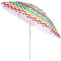 Sombrilla de Playa Parasol de Aluminio Multicolor de 200 cm Garden - LOLAhome