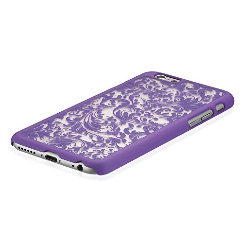"Vena Apple iPhone 6 Case (TACT QUILL)(ULTRA SLIM FIT) Hard Rubber Coating Back Case Cover for Apple iPhone 6 (4.7"") - Radiant Orchid Lila"