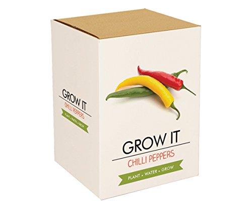 Galleria fotografica GIFT Republic Grow It Kit da offrire con albero a Peperoncini a coltivare