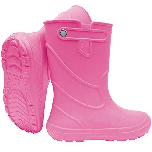SAPRO SYSTEM Junior Kids Boys Girls Wellies Rain Boots Warm Fleece-Lined Light Unisex Children Wellington Boots PVC-Free EVA