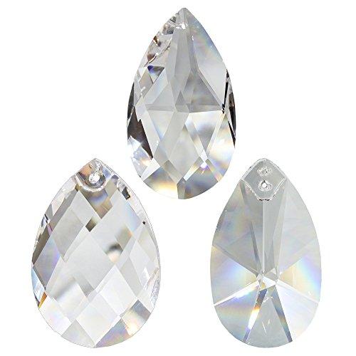 6 Stück Kristall Sonnenfänger Wachtel Zum aufhängen als Fensterschmuck, Raumpendel u. Weihnachtsschmuck Waldorf Feng Shui Kristallglas 30% Hoch-Bleikristall Set-C