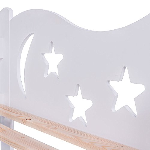 KAGU Chrisi Kinderbett Jugendbett Juniorbett Bett (140x70 cm oder 160x80 cm). Kiefernholz Massivholz inkl. Matratze und Schublade. - 6