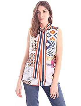 Tory Burch Sienna Bow Blouse Multicolor in Silk, Mujer.