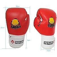 Rcdxing 1paire de gants de boxe enfant Dessin animé enfants de boxe Gants Sparring Gloves-red