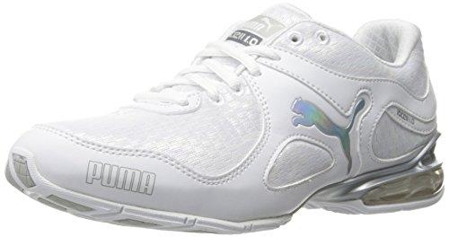 Puma Cell Riaze Prism Cuir Baskets White-Puma Silver