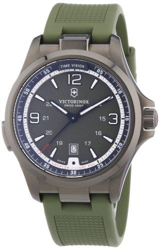 Victorinox Swiss Army 241595 - Orologio da polso uomo, caucciú, colore: verde