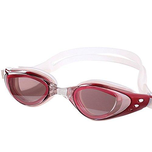 ZHAGOO Professionelle Schwimmbrille - Farbe Optische Brille Anti-Fog Und Wasserdicht 100% UV-Schutz, Erwachsene Männer Und Frauen Schutzhülle, Pink (Sphere-schutzhülle Aqua)