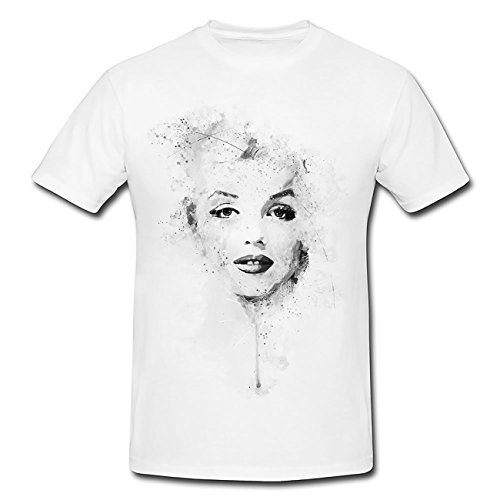 Paul Sinus Art Marilyn Monroe II T-Shirt Herren, weiß mit Aufdruck - Marilyn Monroe T-shirt Tee