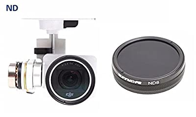 BlueBeach® High Quality ND8 Lens filter for DJI Phantom 3 Advanced Professional and Standard
