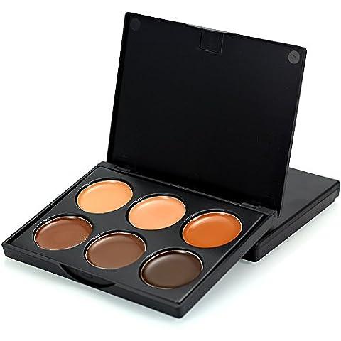 TOFAR 6 Farben Concealer Abdeckcreme Camouflage Palette Kosmetik Make-up Creme Corrector Kosmetik Palette Kit -