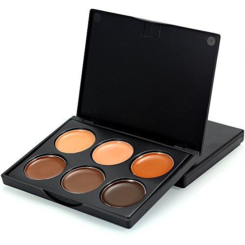 TOFAR 6 Farben Concealer Abdeckcreme Camouflage Palette Kosmetik Make-up Creme Corrector Kosmetik Palette Kit - FM03