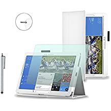 """Funda para Samsung Galaxy Tab3de 7pulgadas, 8pulgadas y 10,1pulgadas (Incluye protector de pantalla y lápiz capacitivo/Varios colores blanco blanco Galaxy Tab/NotePRO - 12.2"""""""