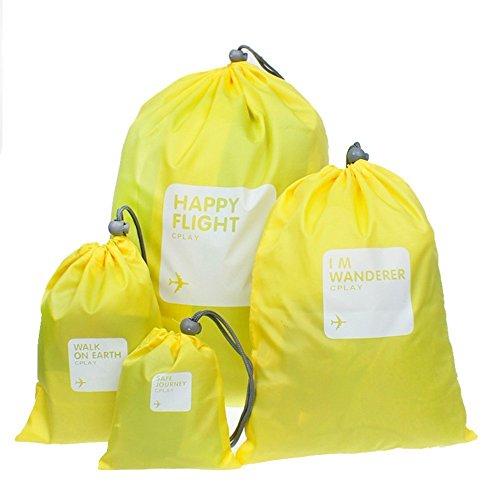 Togather® Drawstring sacchetti di nylon 4-in-1 / Ditty sacchetto / borsa di stoccaggio di cavo/Storage Bag /Shoes borsa per viaggi casa Outdoor trekking campeggio impermeabile
