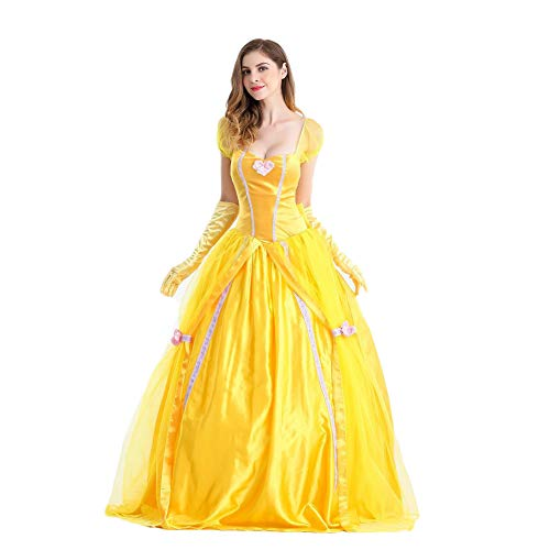 Costyle Halloween Costume Beauty and the Beast Bell Princess Dress