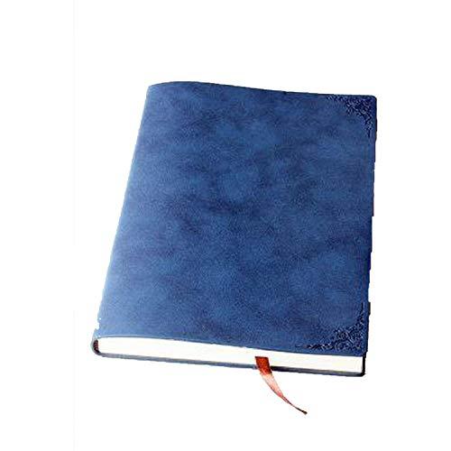 Notizblock, Vintage-Stil, dickes Papier, Notizblock, Leder, Tagebuch, Tagebuch, Planer, Schule, Büro, Schreibwaren Einheitsgröße rot (Papier Verstärkungen)