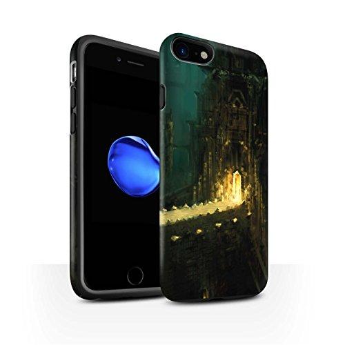 Offiziell Chris Cold Hülle / Matte Harten Stoßfest Case für Apple iPhone 7 / Baum des Wissens Muster / Gefallene Erde Kollektion Dragonfel Tempel