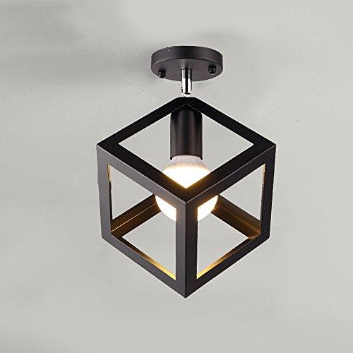 Vintage Industrial Edison Mini Peinture Lampe de plafond encastrée en métal Luminaire suspendu pour salon / chambre à coucher / Salle à manger / Cuisine / Lustre de salle de bain ( Color : Black 2 )