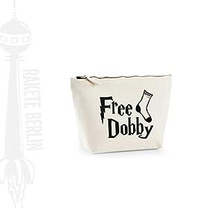 Kosmetiktasche (M) 'Free Dobby – Socke ' Baumwoll Canvas