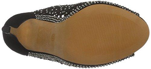 Buffalo Damen Rk 1507-146 Microfiber Kurzschaft Stiefel Schwarz (Black 01)