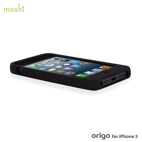 Moshi - 99MO050102 - Origo - Étui de protection renforcée en silicone pour iPhone 5/5S - Blanc Polaire Noir Graphite