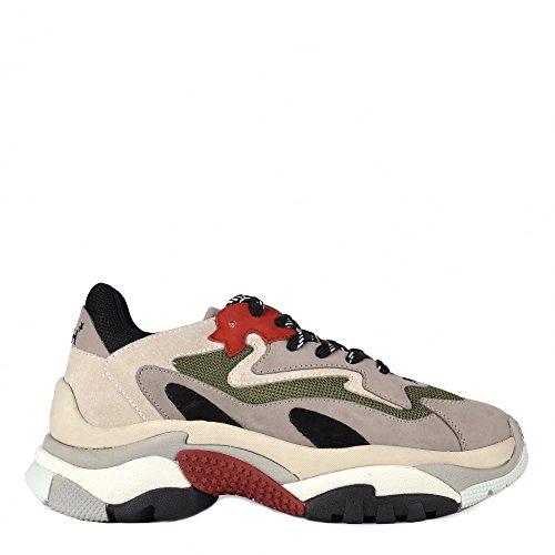 Ash Footwear Scarpe Addict Sneaker Grigio e Rosso Donna Grey/Red 40