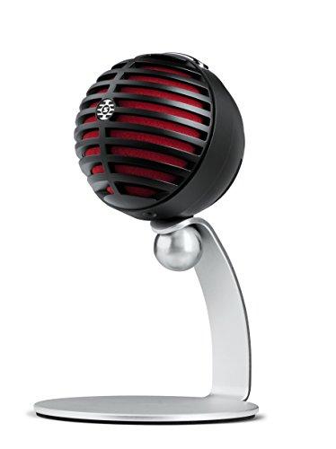 Shure MV5-LTG - Micrófono de condensador digital para USB y lightning, 3 modos de DSP preprogramados, previo integrado, monitorización de latencia cero, jack de auriculares, captura de audio de alta calidad de 24bit / 48Khz.