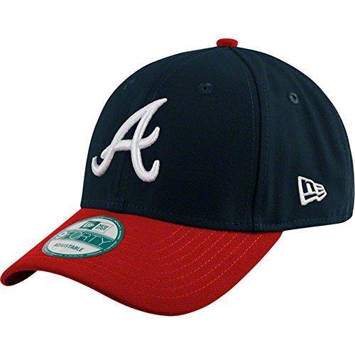 Cappello degli Atlanta Braves, MLB New Era 9FORTY-Cappello per adulti, regolabile
