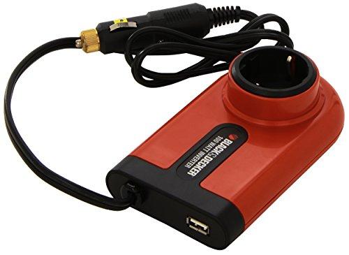 Preisvergleich Produktbild Black+Decker BDPC100A-QS Spannungswandler 100Watt von 12V auf 240V mit Flugzeug-Adapter