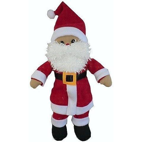 Powell Craft-Bambola di pezza fatta a mano, babbo Natale tradizionale per bambini di peluche - Mano Crafts