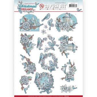 Find It 3D-Stanzbogen - Yvonne Creations - Christmas Dreams - Vögel