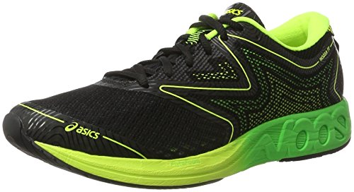 Asics Noosa FF - Laufschuhe Herren T722N-9085 (46, 9085 BLACK/GREEN GECKO/SAFETY YELLOW)