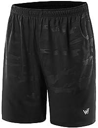 WHCREAT Femme Slim Fit Short de Course Pantalon Court d'entraînement Technique avec 2 Poche