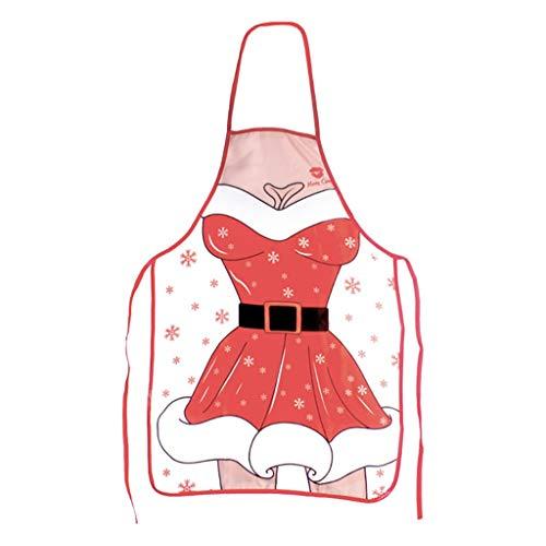 LeeMon Grembiuli Creativi di Natale, Grembiule di Babbo Natale, Cameriere Grembiule da Cucina, Home Decor (E)