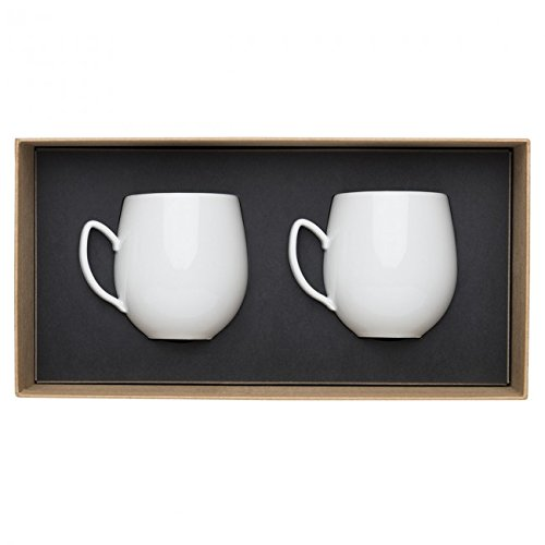 DEGRENNE - Set de 2 Mugs, Porcelaine, Blanc - 38cl