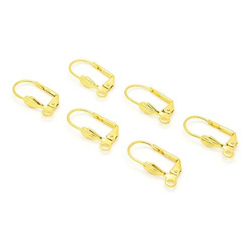 3x Paar Ohrring Konverter (Fisch Haken, um French Klappbügel)–vergoldet von Chelsea Jones (Ohrringe-konverter)